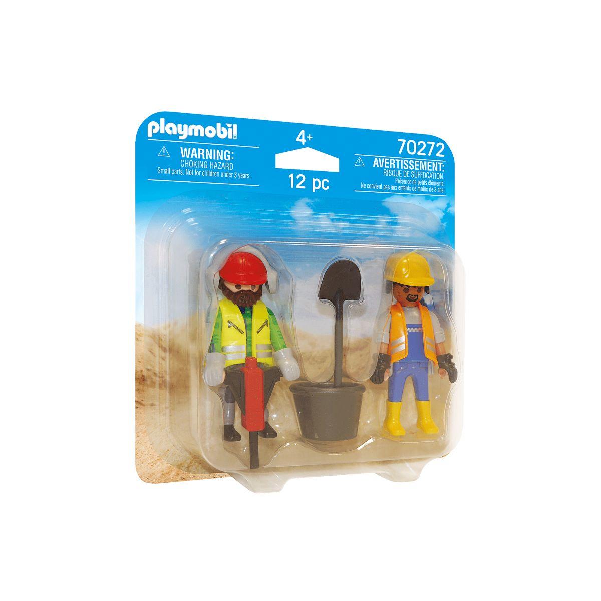 Set 2 figurine Playmobil City Action - Muncitori in constructii