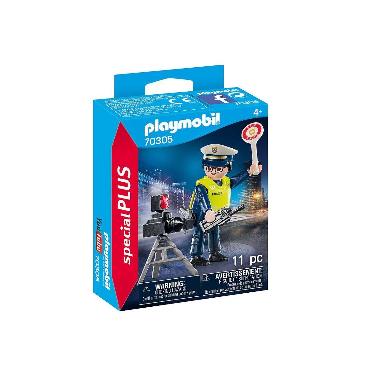 Set Playmobil Figures Special Plus - Politist cu radar
