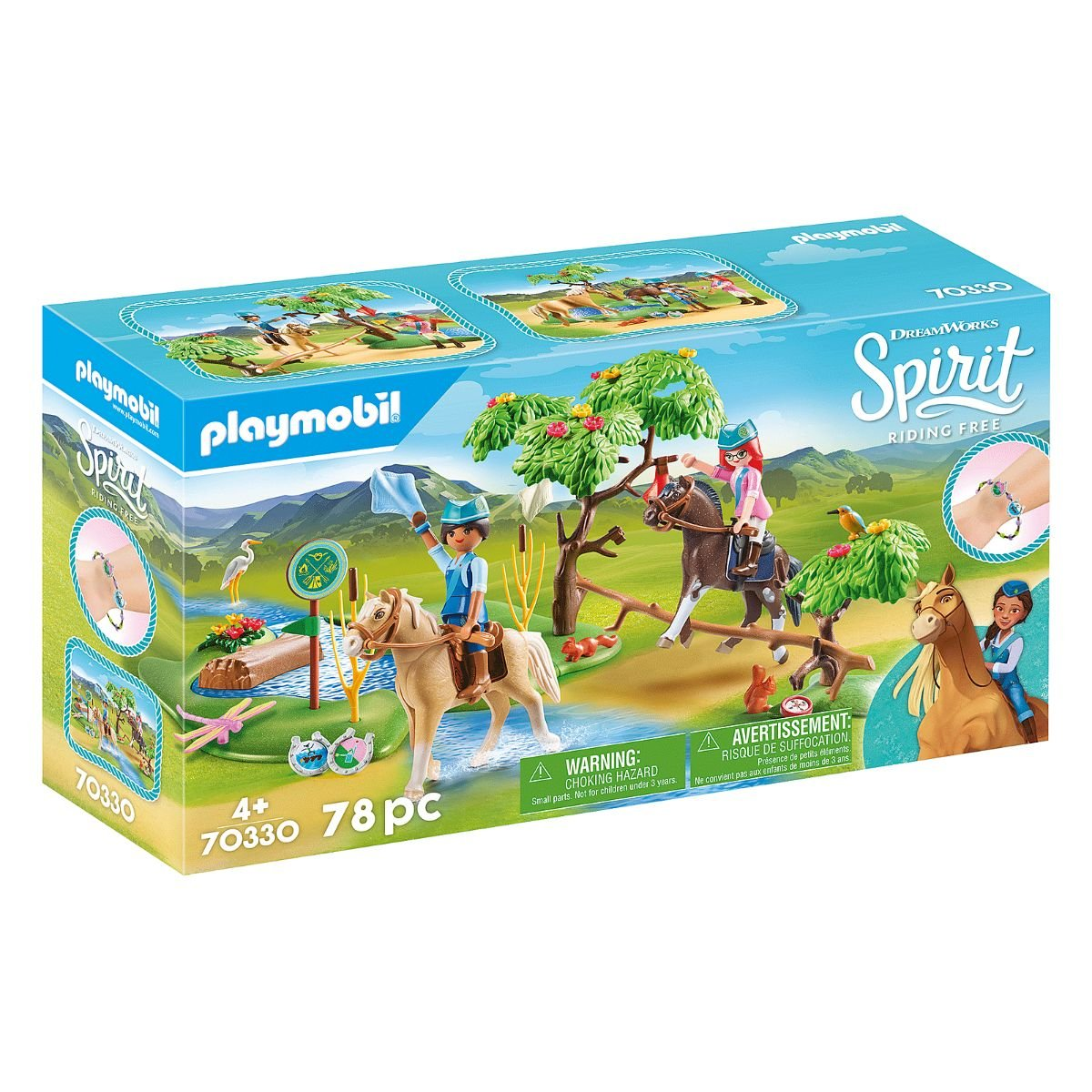 Set Playmobil Spirit III - Calareti la rau