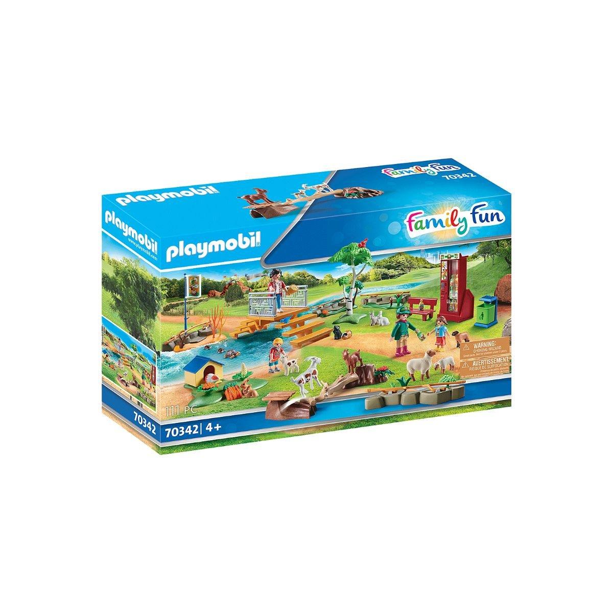 Set Playmobil Family Fun Large Zoo - Tarcul animalelor de la Zoo