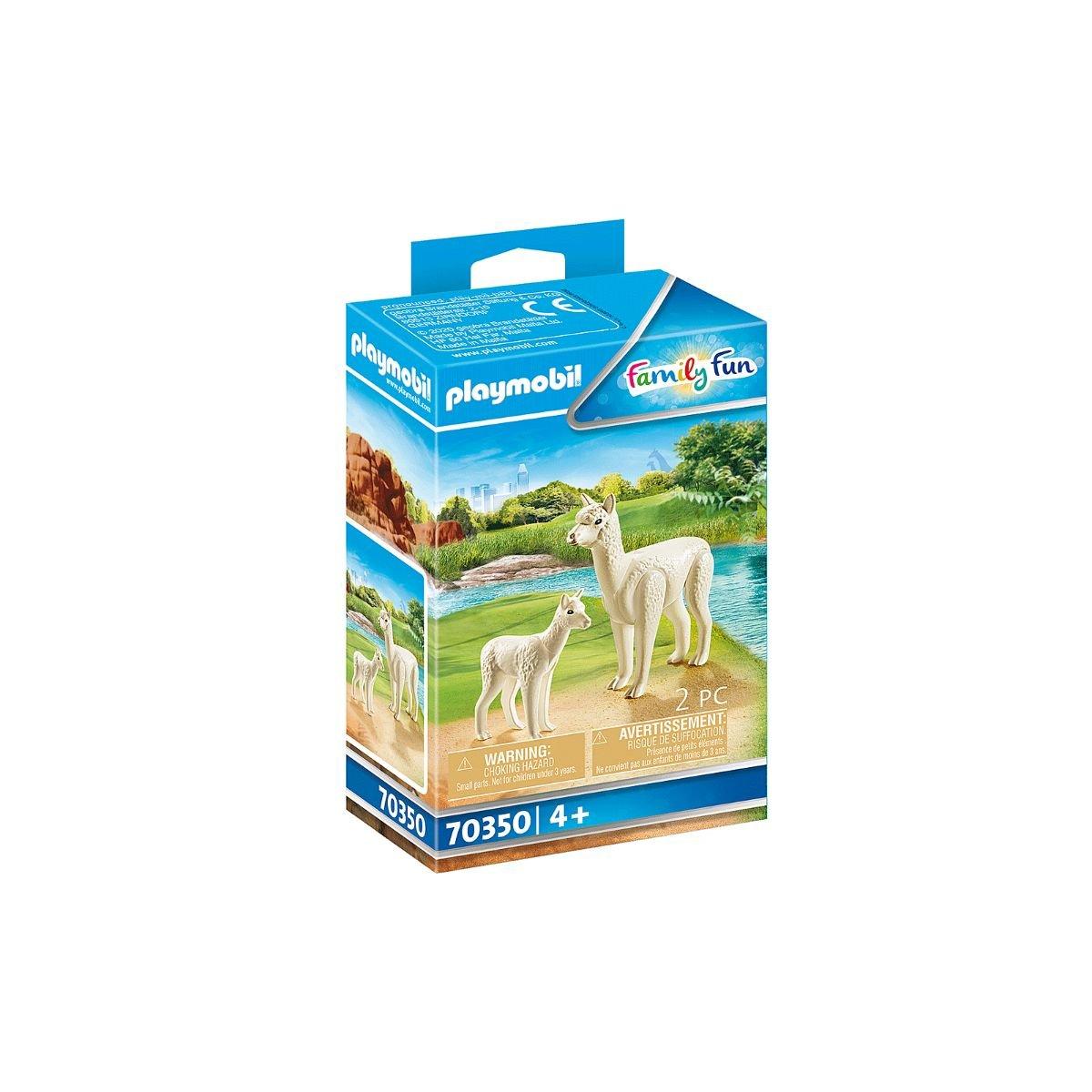 Set Playmobil Family Fun Large Zoo - Alpaca cu pui