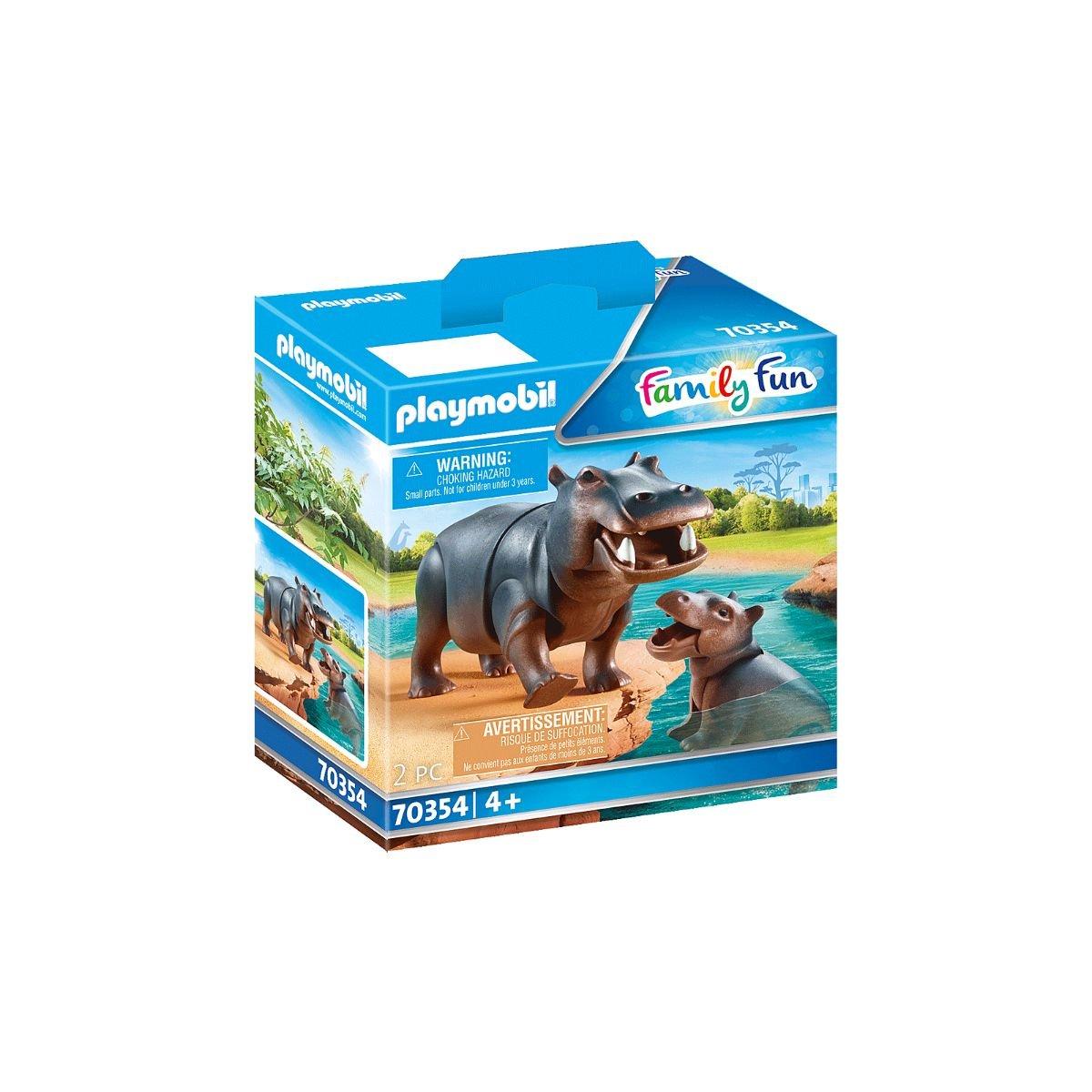 Set Playmobil Family Fun Large Zoo - Hipopotam cu pui