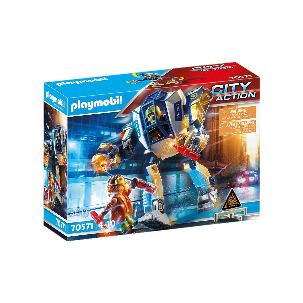 Set Playmobil City Action Police - Robot de politie pentru operatiuni speciale