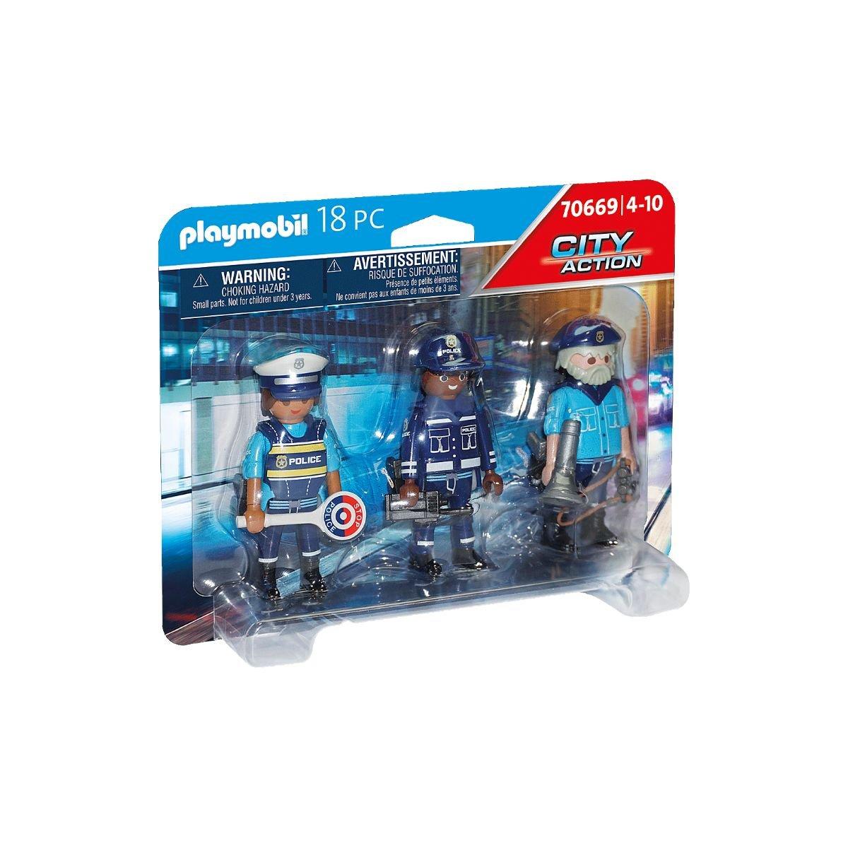 Set 3 figurine politisti, Playmobil City Action - Police