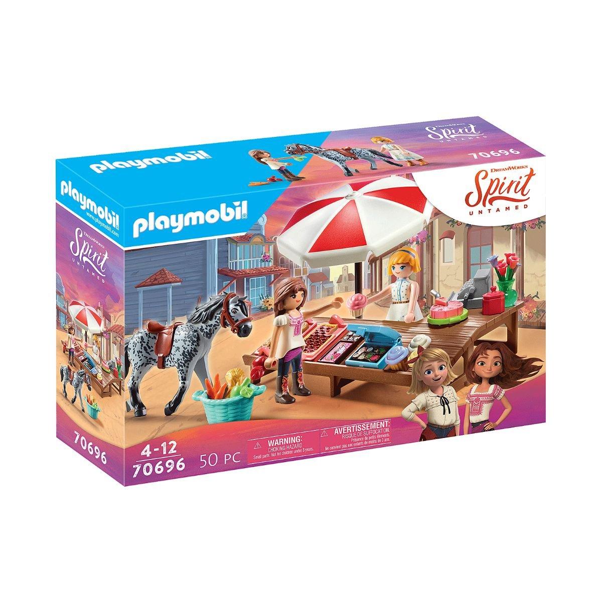 Set Playmobil Spirit IV - Stand cu prajituri in miradero
