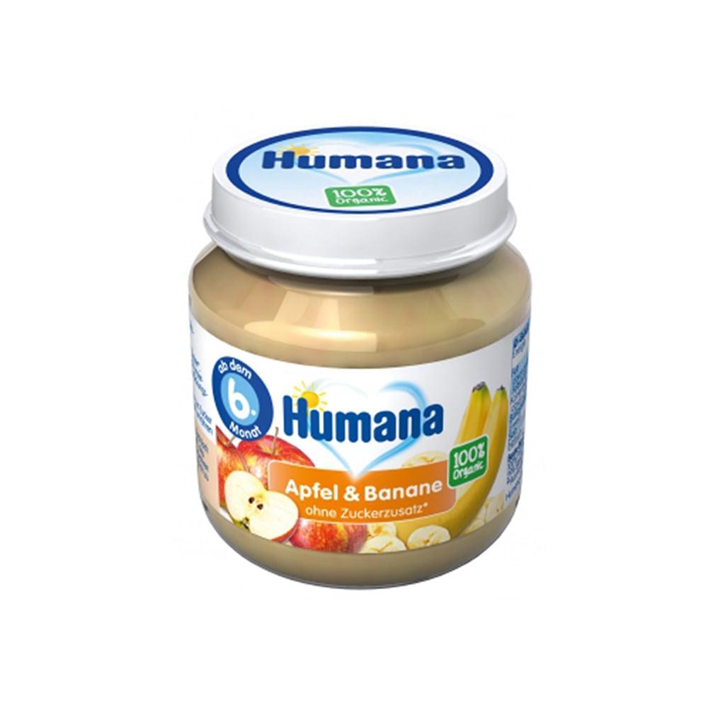 Piure ECO de banane si mar Humana, 125 g, 6 luni+ imagine