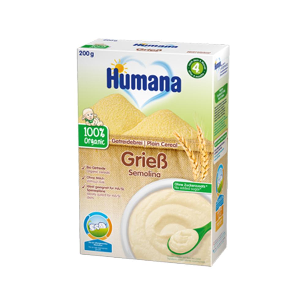 Cereale ECO, gris fara lapte Humana, 200 g, 4 luni+ imagine