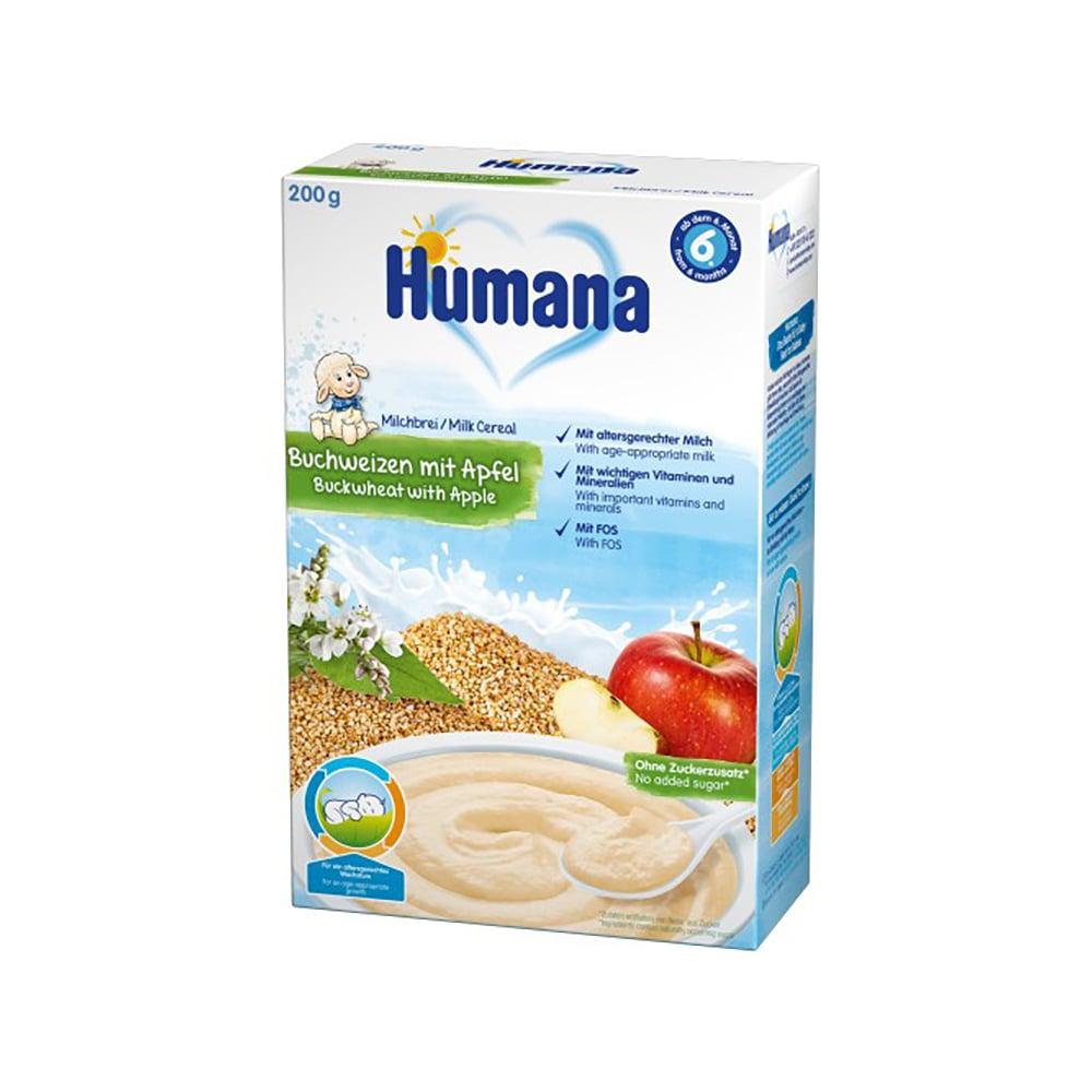 Cereale cu lapte, hrisca si mar Humana, 200 g, 6 luni+ imagine