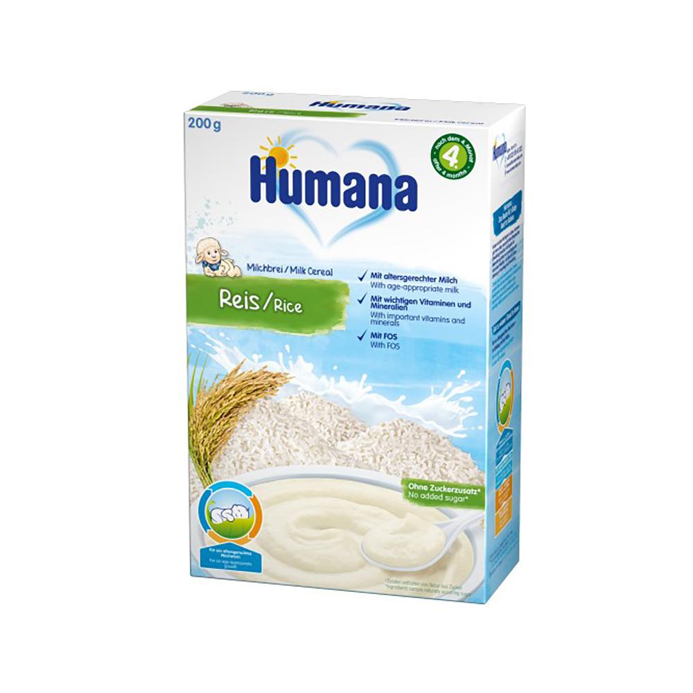Cereale Orez cu lapte Humana, 200 g, 4 luni+ imagine