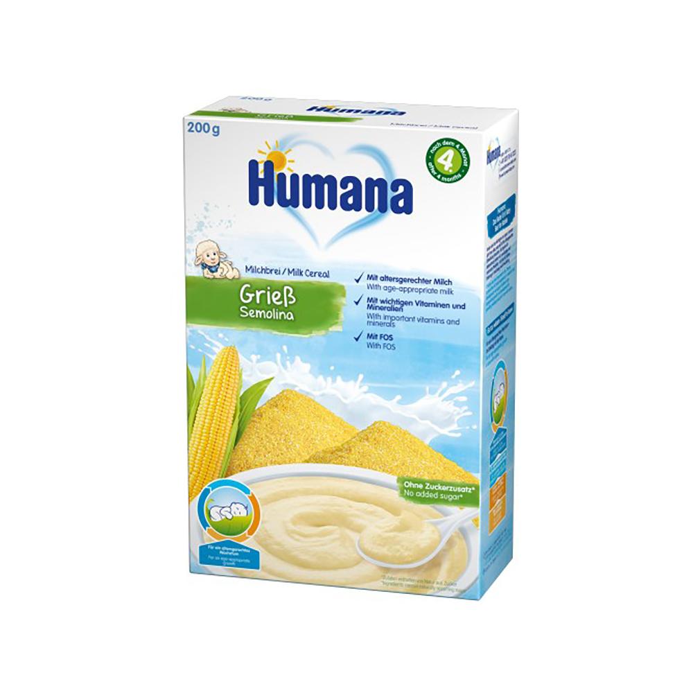 Cereale cu lapte si gris Humana, 200 g, 4 luni+