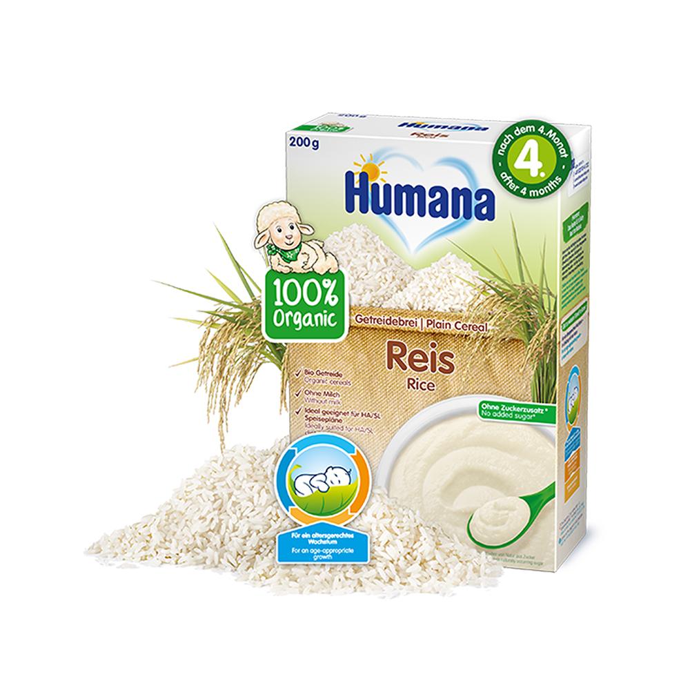 Cereale ECO, Orez fara lapte Humana, 200 g, 4 luni+ imagine