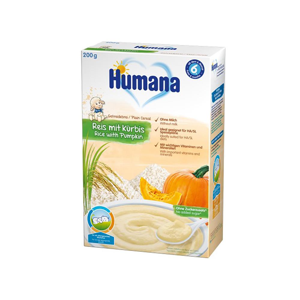 Cereale fara lapte Humana Orez cu dovleac, 200 g, 6 luni+ imagine