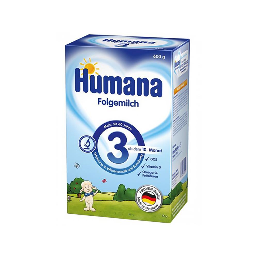 Lapte praf de continuare Humana 3 GOS, 600 g, 10 luni+ imagine