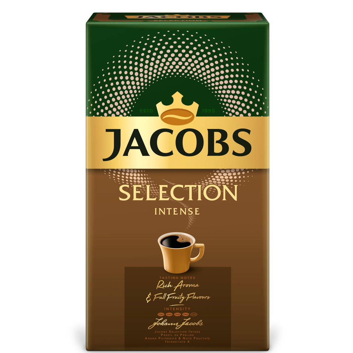 Cafea prajita si macinata Jacobs Selection Intense, 500 g imagine