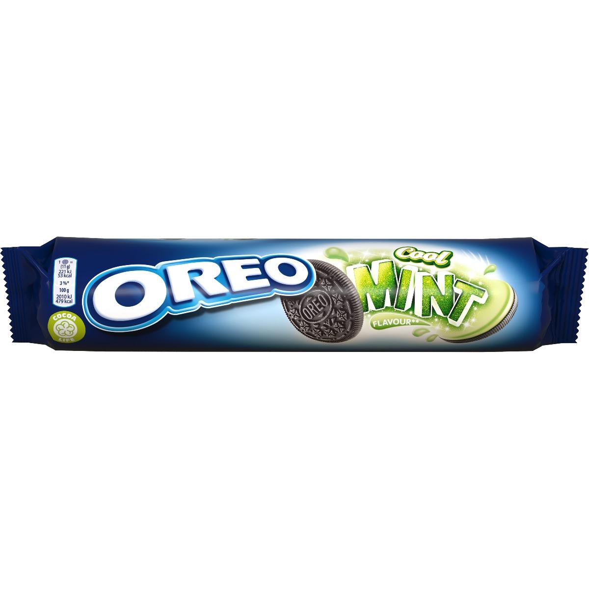 Biscuiti cu aroma de menta Oreo, 154 g imagine
