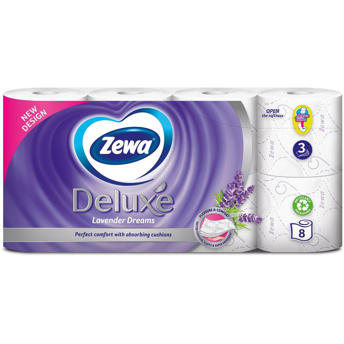 Hartie igienica Zewa Deluxe Lavender Dreams, 3 straturi, 8 role imagine