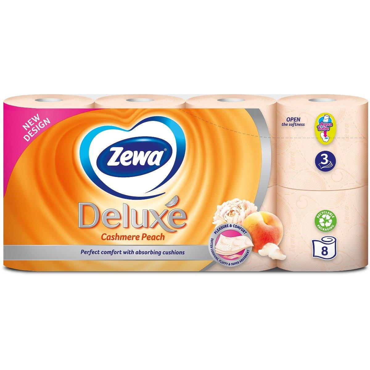 Hartie igienica Zewa Deluxe Cashmere Peach, 3 straturi, 8 role imagine