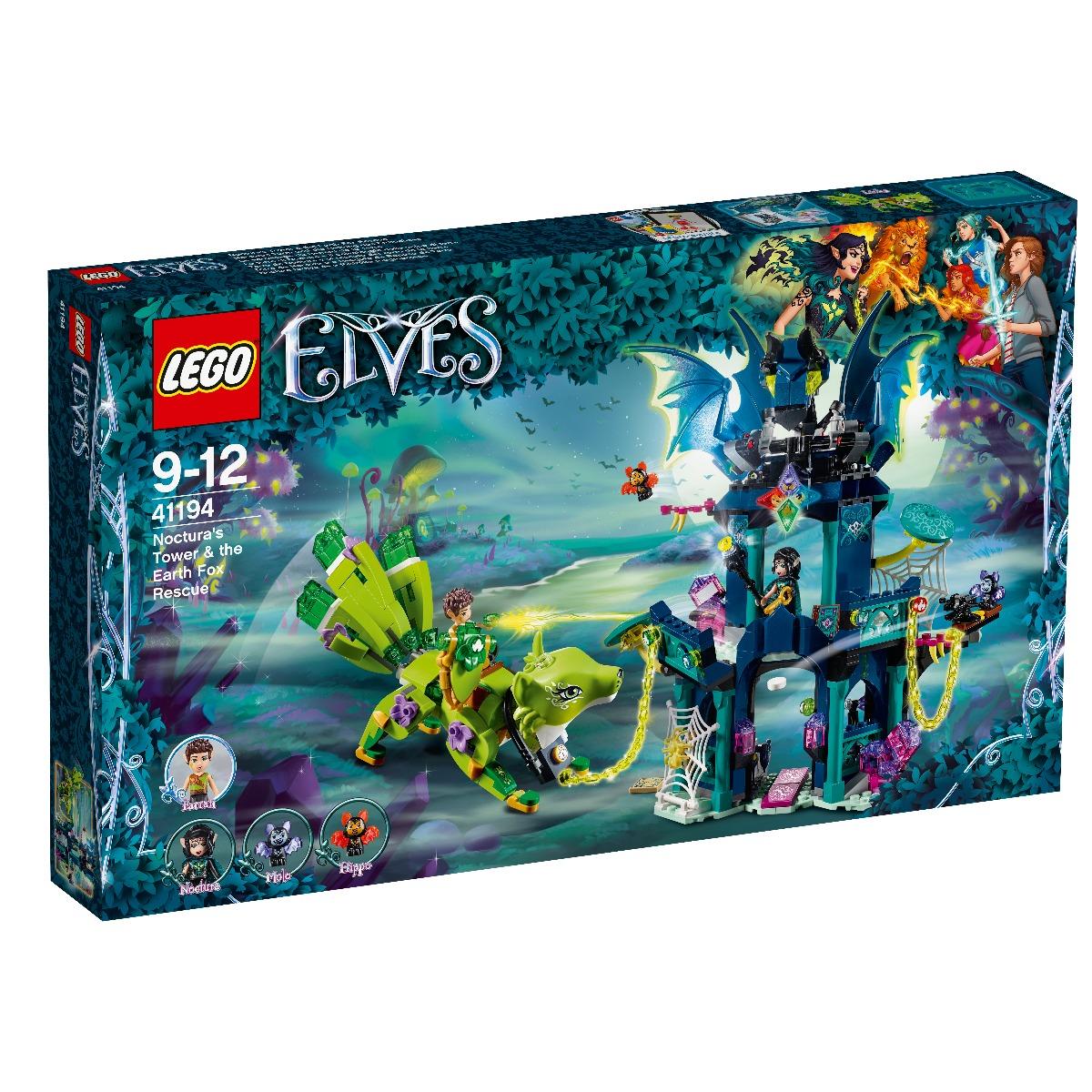 lego® elves - turnul lui noctura si salvarea vulpii de pamant (41194)