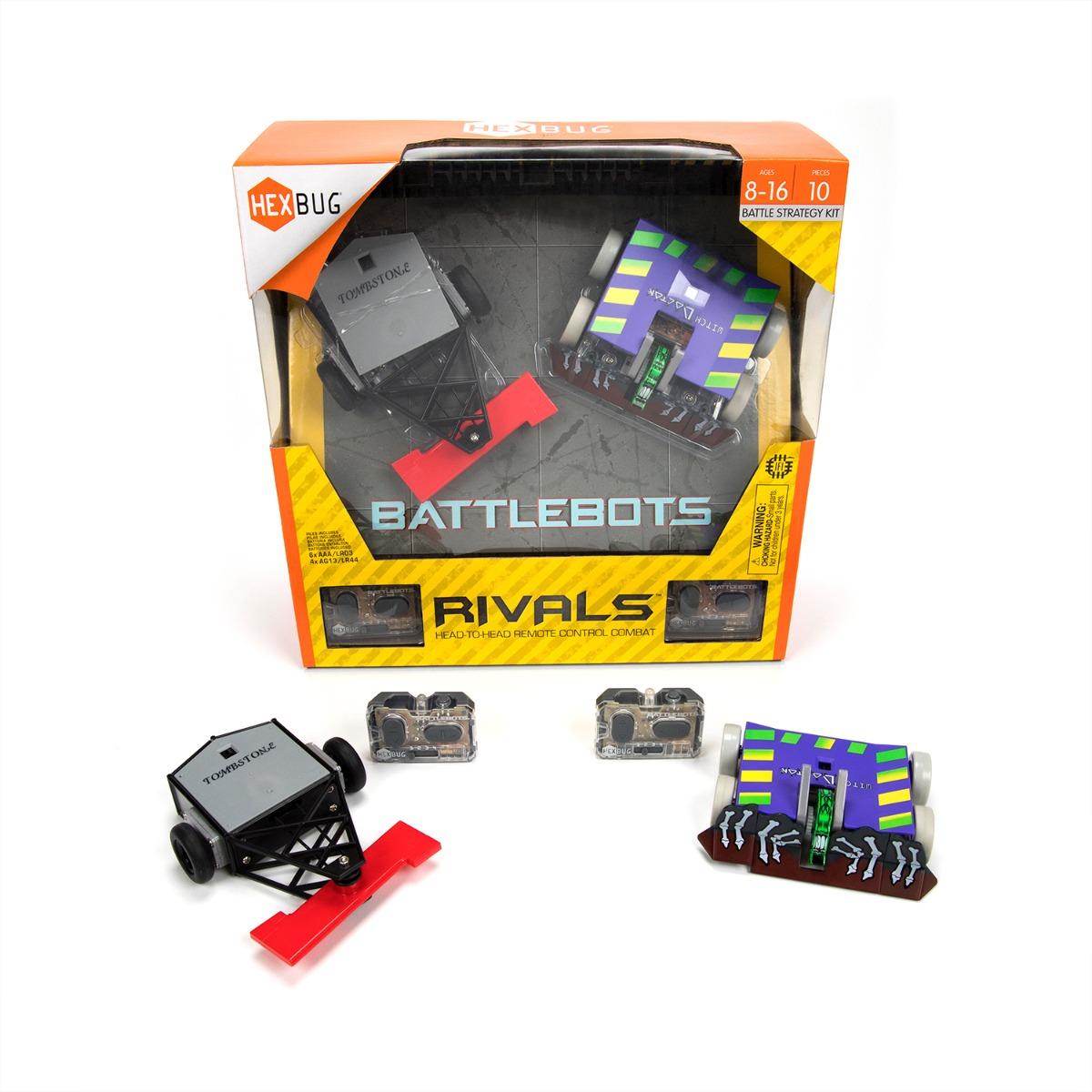 Set Roboti de lupta cu telecomanda BattleBots Hexbug, Rivals (Witch Doctor, Tombstone)