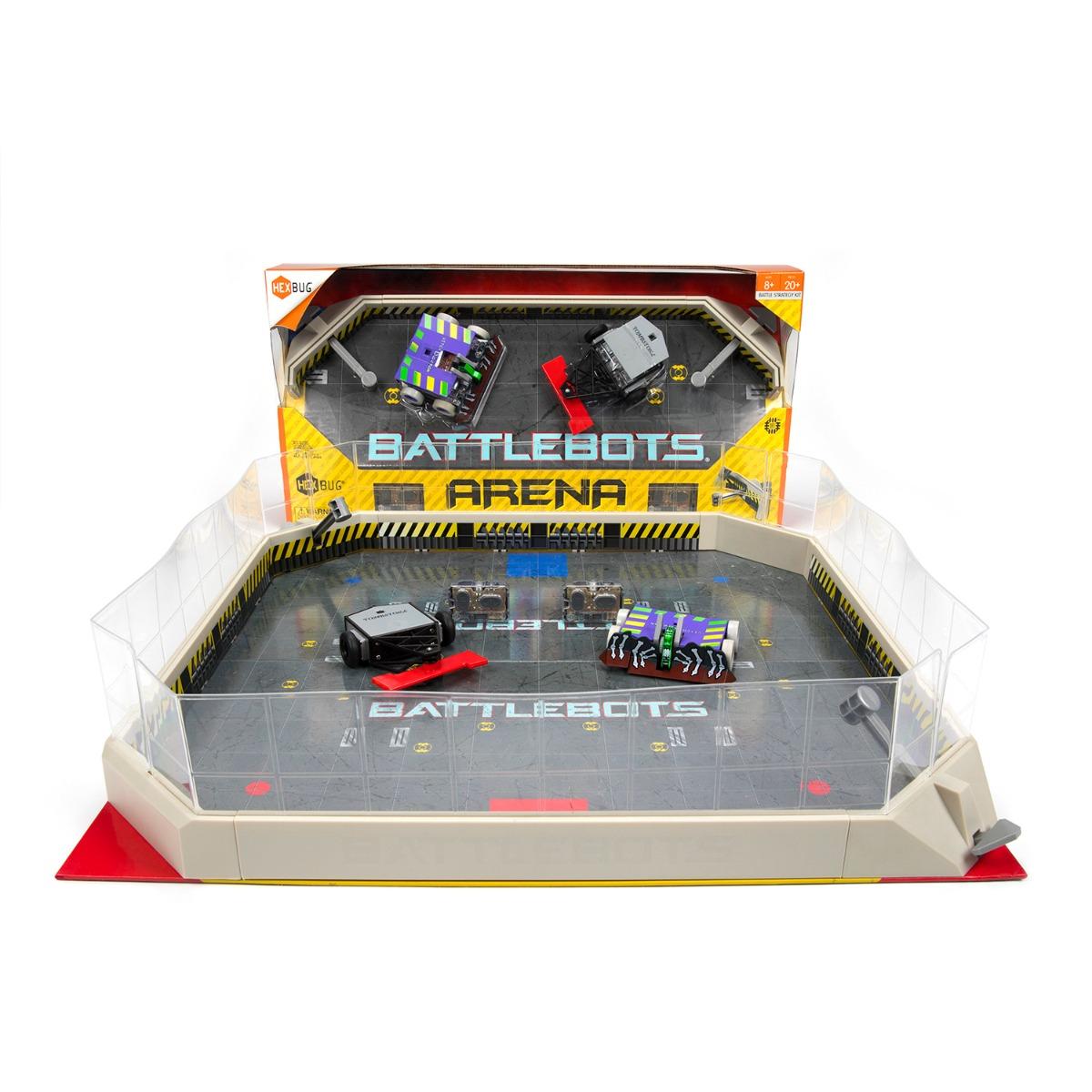 Set cu Arena si Roboti de lupta cu telecomanda BattleBots Hexbug, Rivals (Witch Doctor, Tombstone)