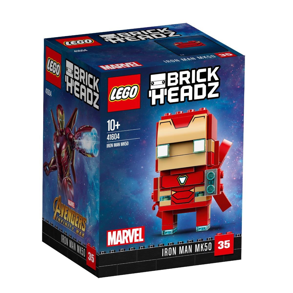 lego® brickheadz - iron man mk50 (41604)
