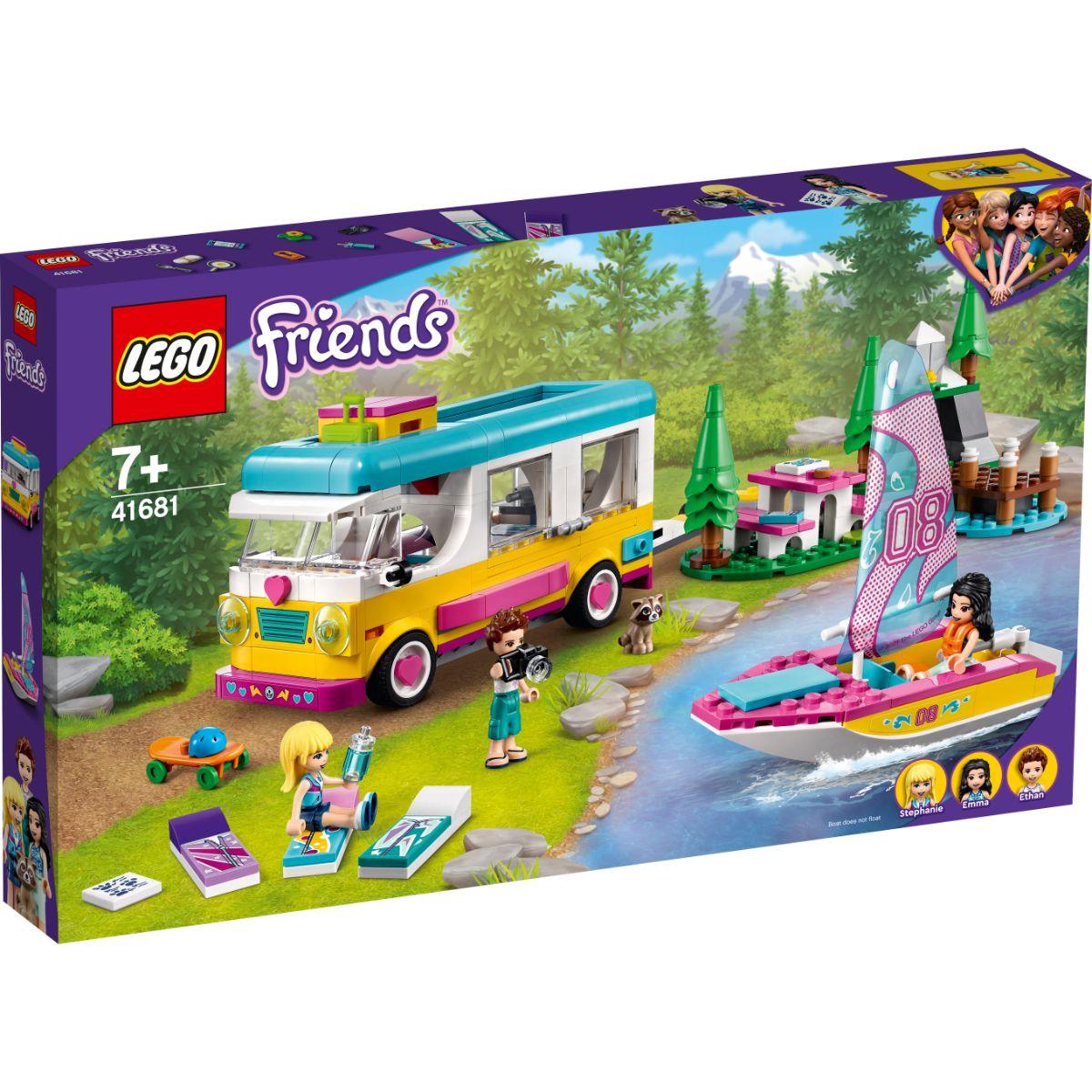 LEGO® Friends - Furgoneta de camping si barca cu panze (41681)