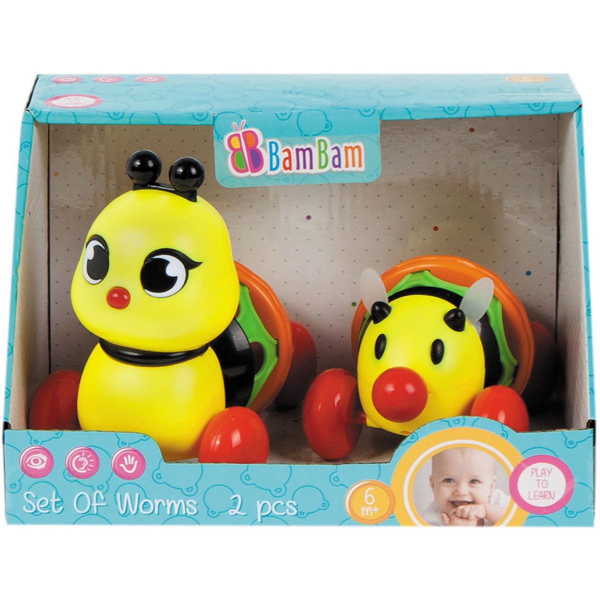 Set 2 Jucarii Bebe Bambam, Insecte Colorate
