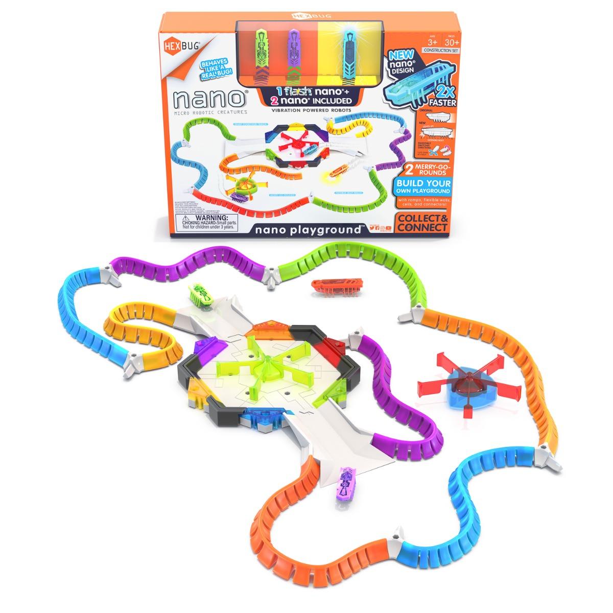 Set de joaca cu 8 segmente de traseu si 3 insecte Hexbug Playground