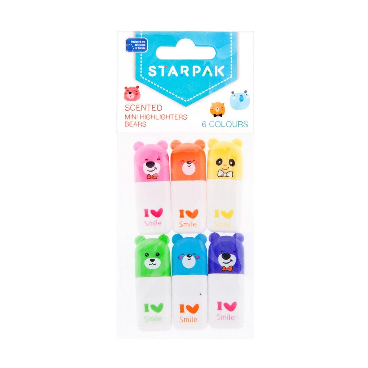Mini markere parfumate Starpak, 6 culori imagine