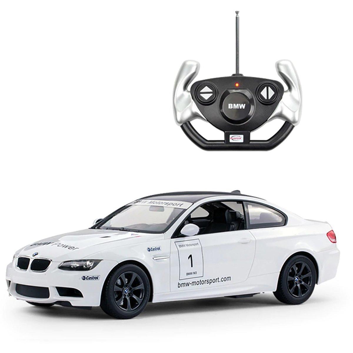 Masinuta cu telecomanda Rastar BMW M3, Alb, 1:14