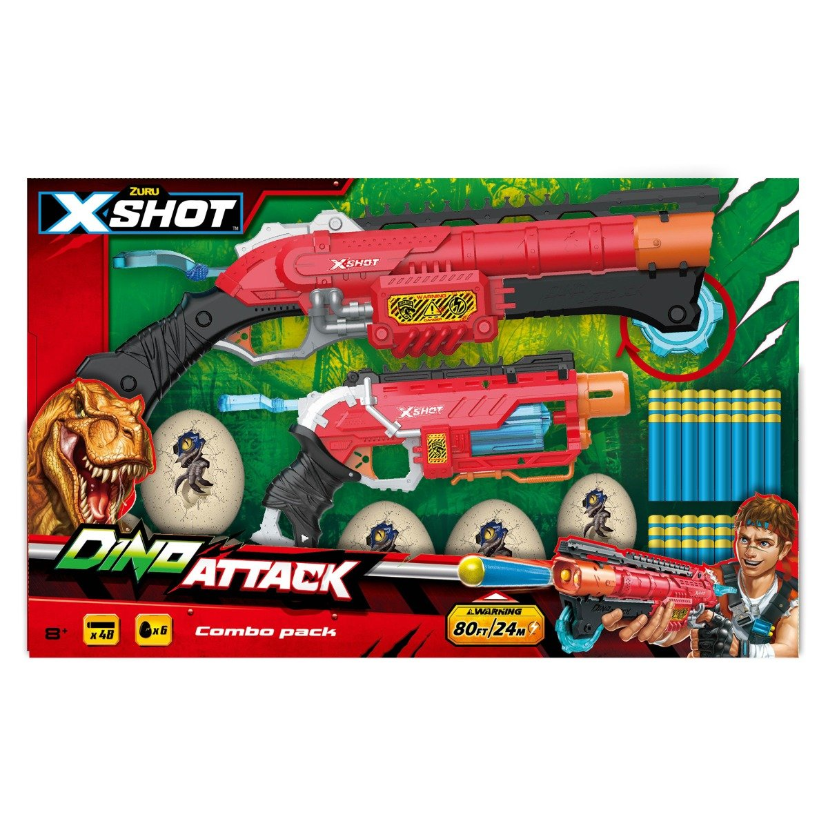 Set Blaster Dino Attack Combo Pack, 48 proiectile