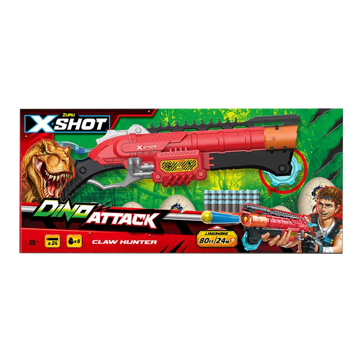 Blaster X-Shot Dino Attack Claw Hunter, 24 proiectile