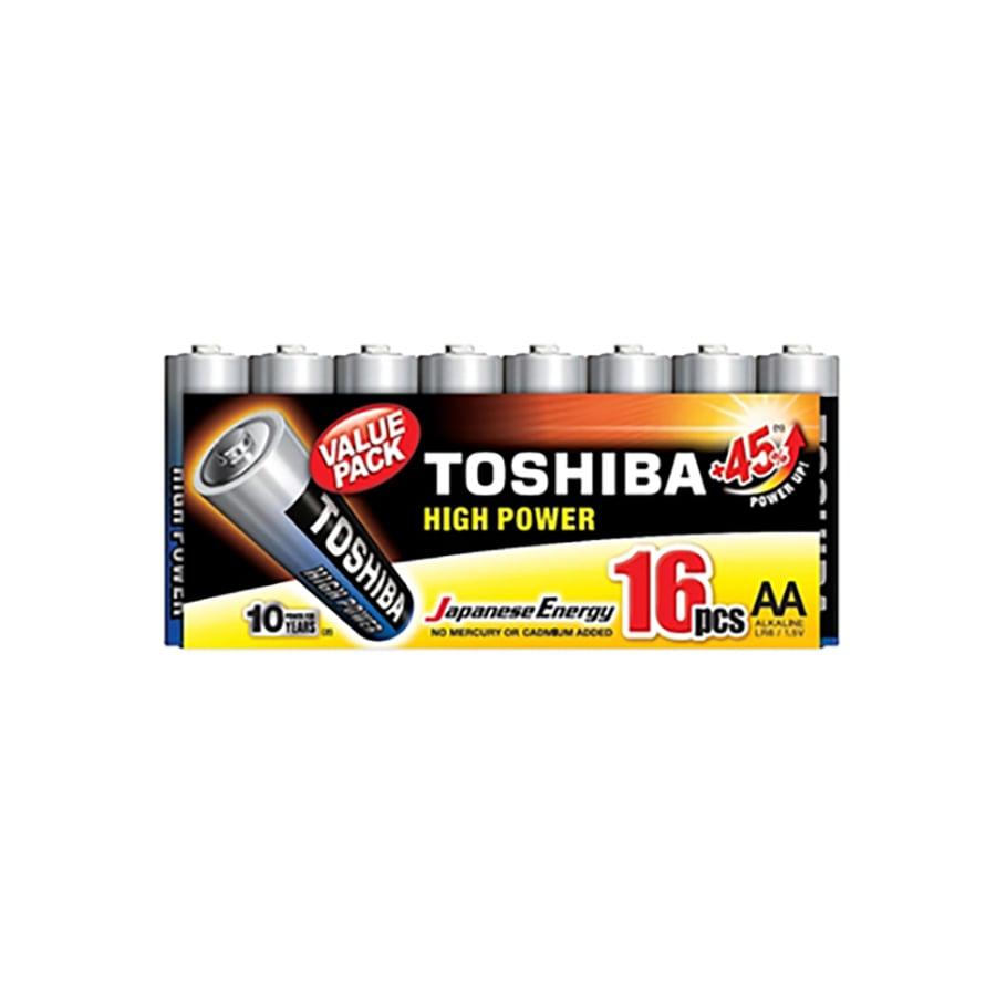 Set 16 baterii alcaline Toshiba R6, AA, High Power imagine 2021