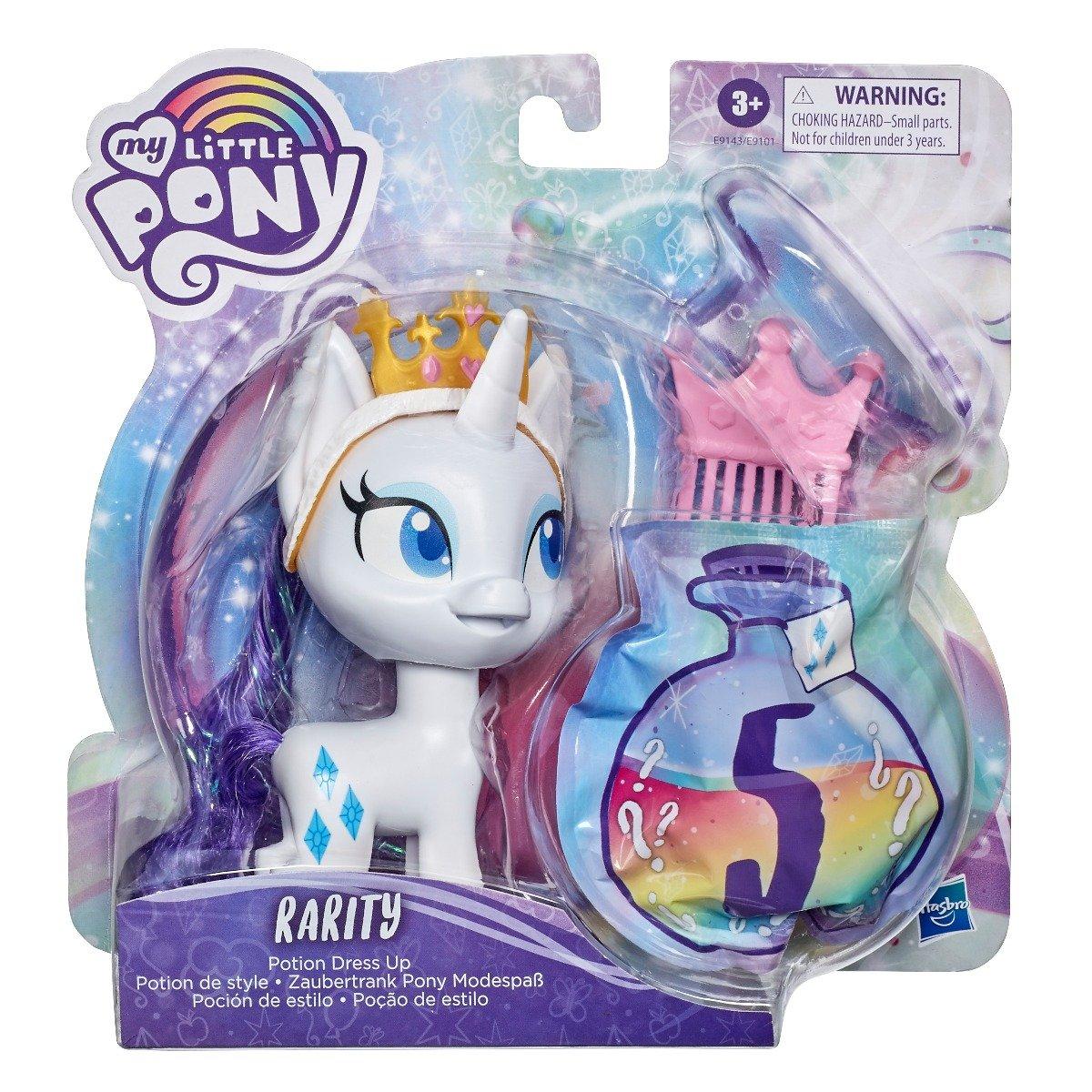 Figurina cu accesorii surpriza My Little Pony Potiunea Magica, Rarity E9143