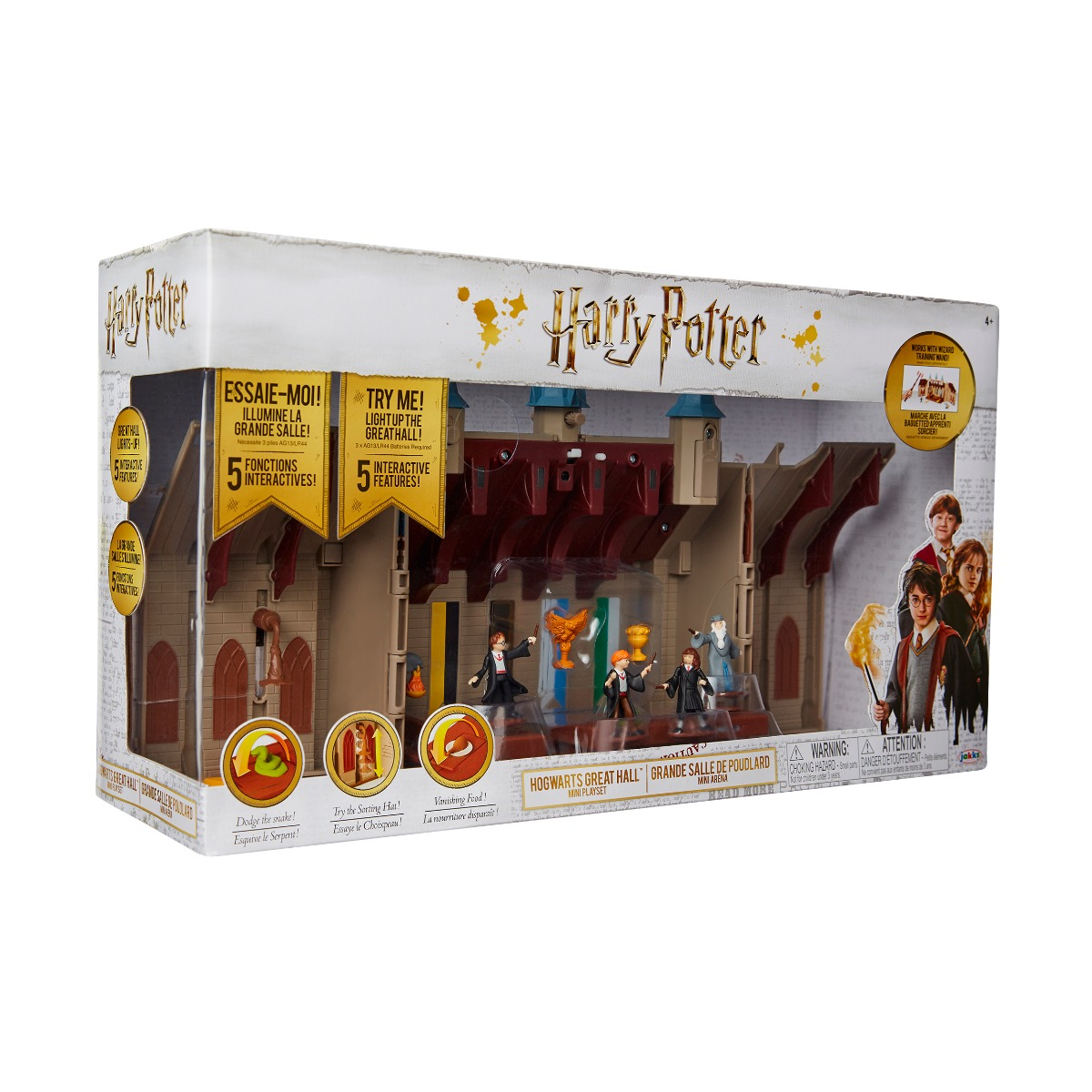 Set de joaca cu figurine Harry Potter, Deluxe Hogwarts Great Hall