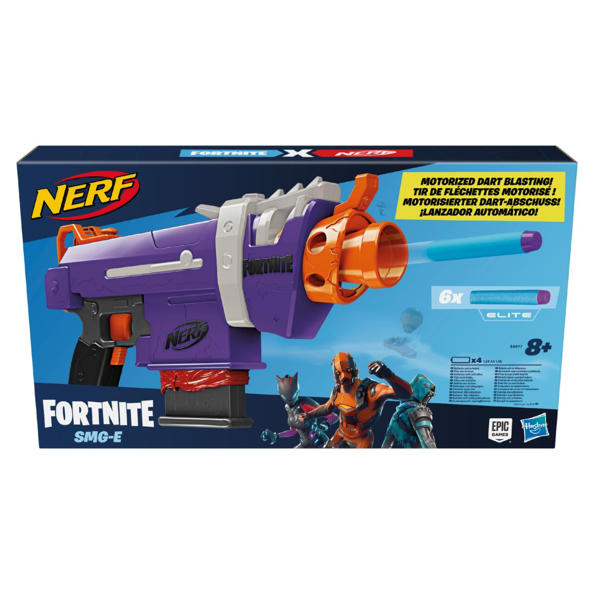 Blaster X, Nerf, Fortnite Smg E