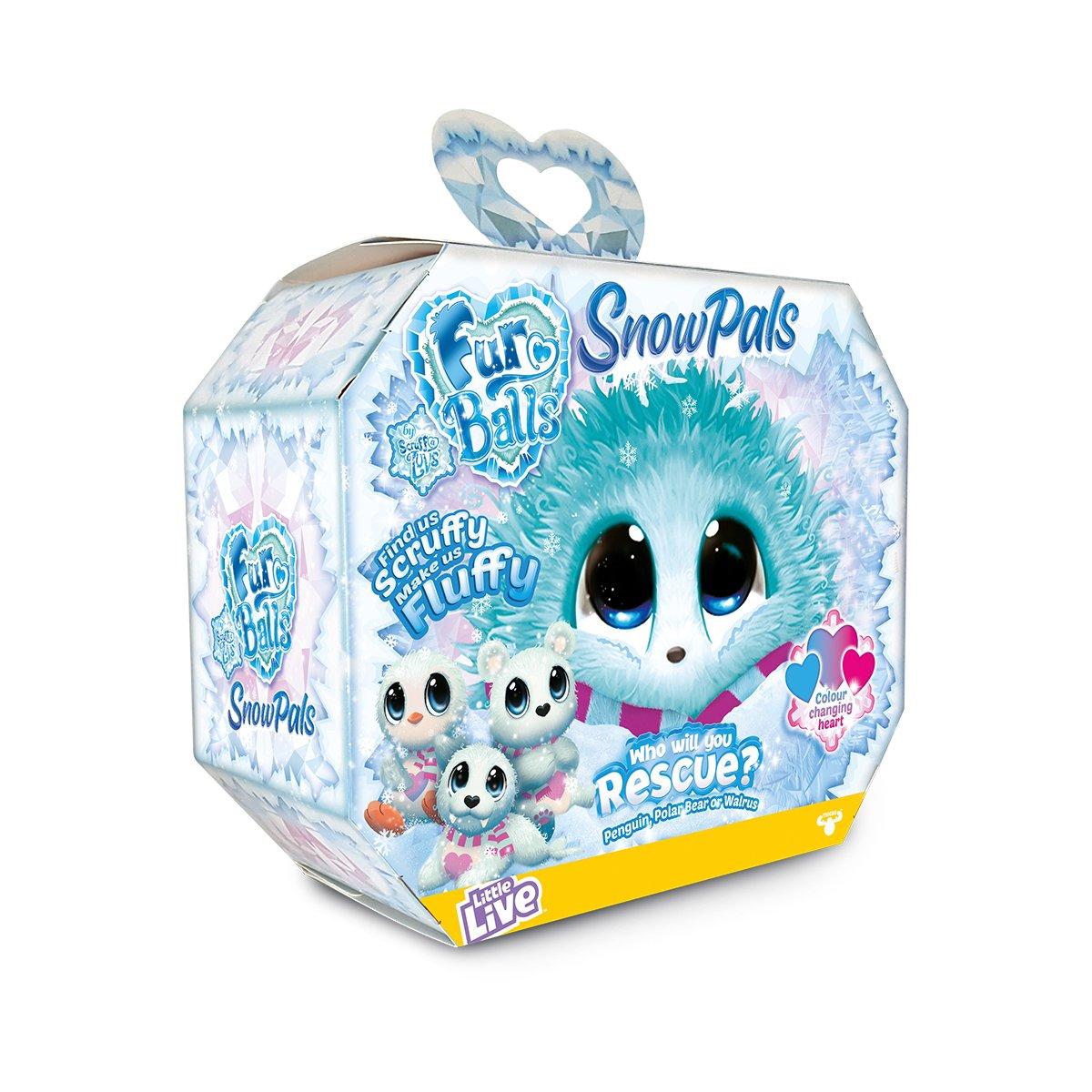 Jucarie de plus surpriza Fur Balls, Snow Pals, Albastru