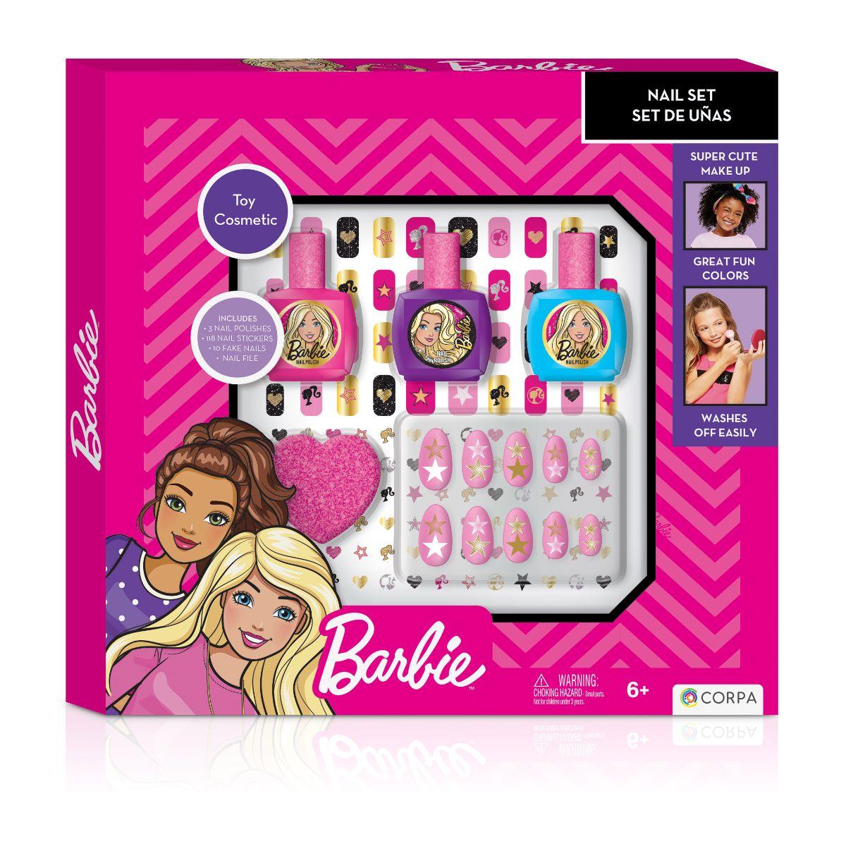 Set cosmetice pentru unghii Barbie