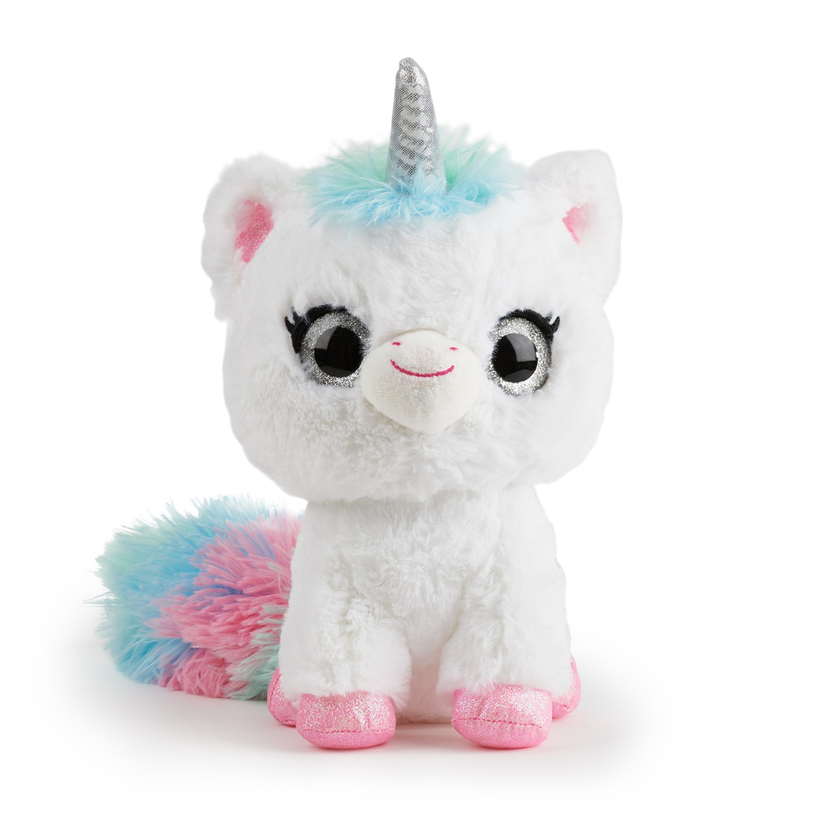 Jucarie interactiva de plus Glowcorns - Unicorn