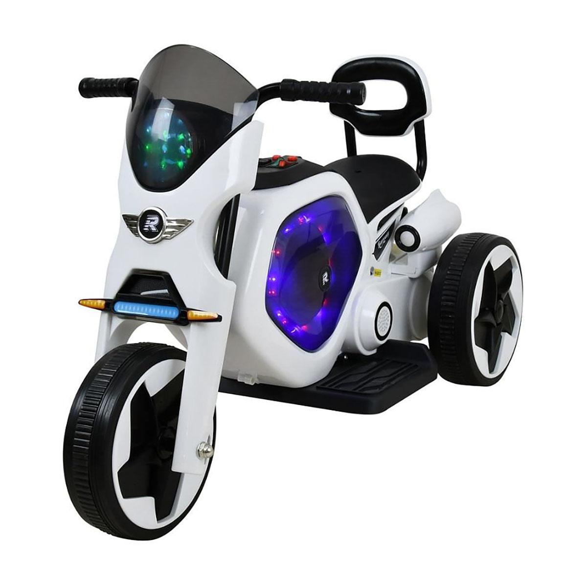 Tricicleta electrica DHS, alb cu negru imagine