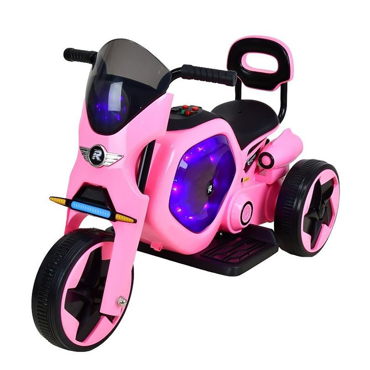 Tricicleta electrica DHS, roz imagine