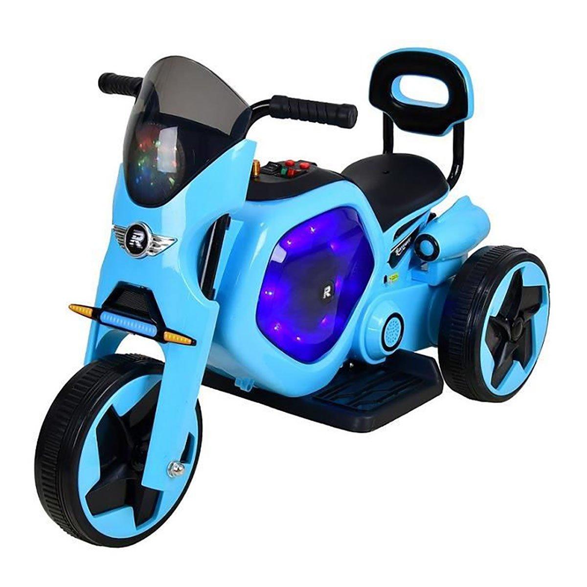 Tricicleta electrica DHS, albastru cu negru imagine