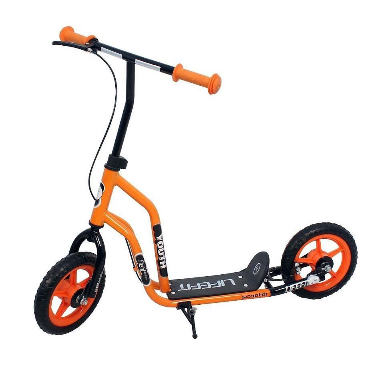 Trotineta cu roti de plastic 10 inch, DHS Youth, portocaliu cu negru