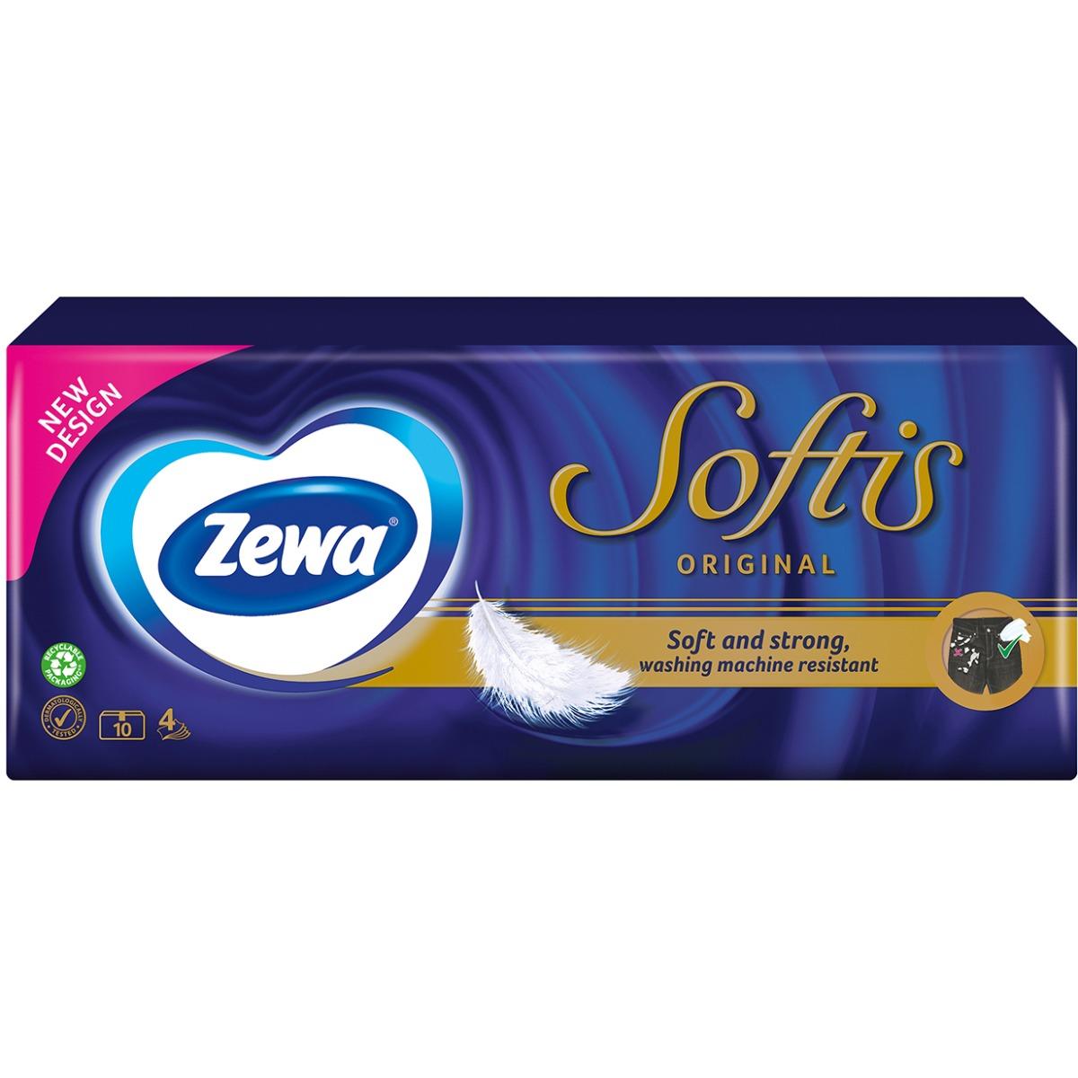 Set Batiste nazale Zewa Softis Neutral, 4 straturi, 10 pachete imagine