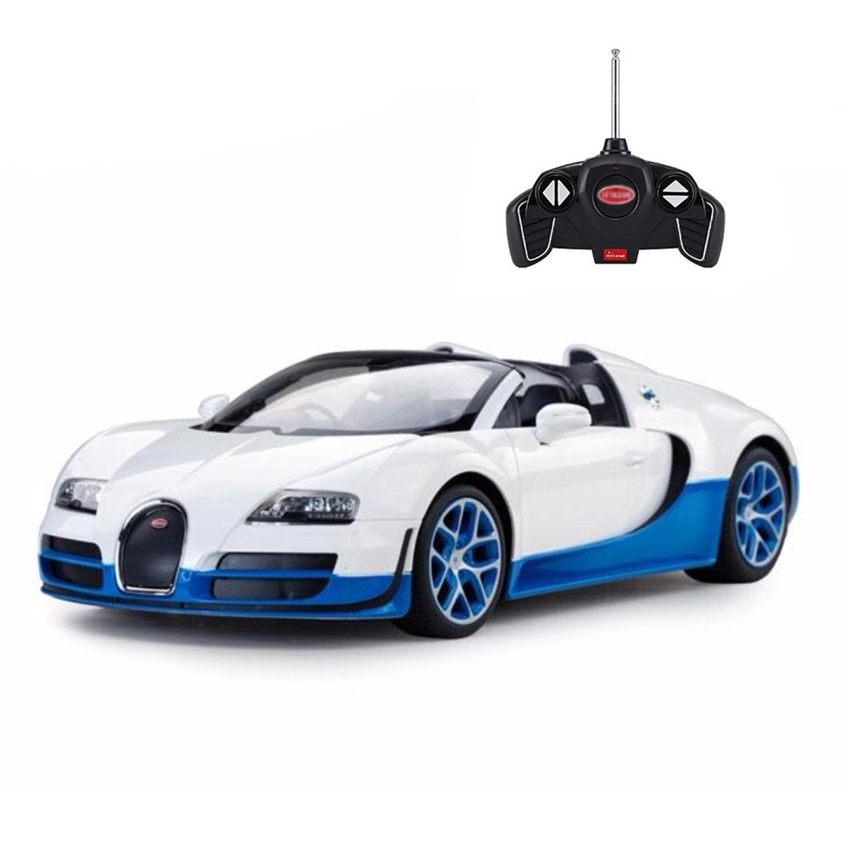 Masina cu telecomanda Rastar Bugatti Veyron Grand Sport Vitesse, 1:18, Alb
