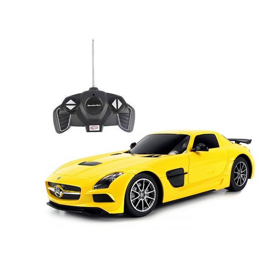 Masinuta cu telecomanda Rastar Mercedes-Benz SLS 1:18, Galben
