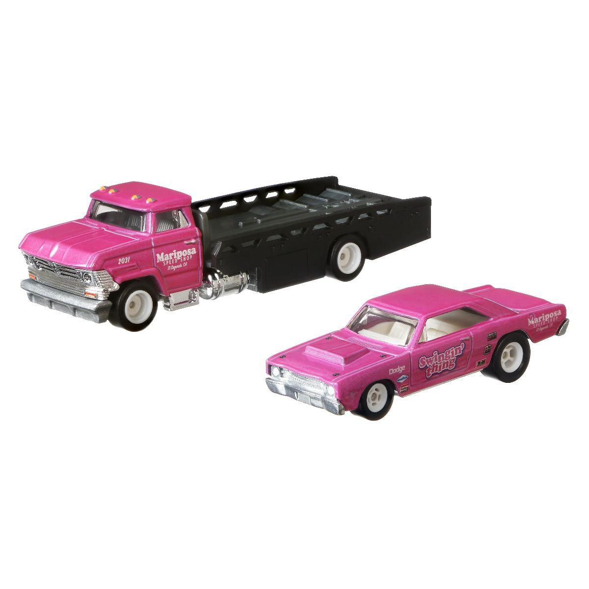 Transportator cu masinuta Hot Wheels, 68 Dodge Dart, Horizon Hauler, 1:64