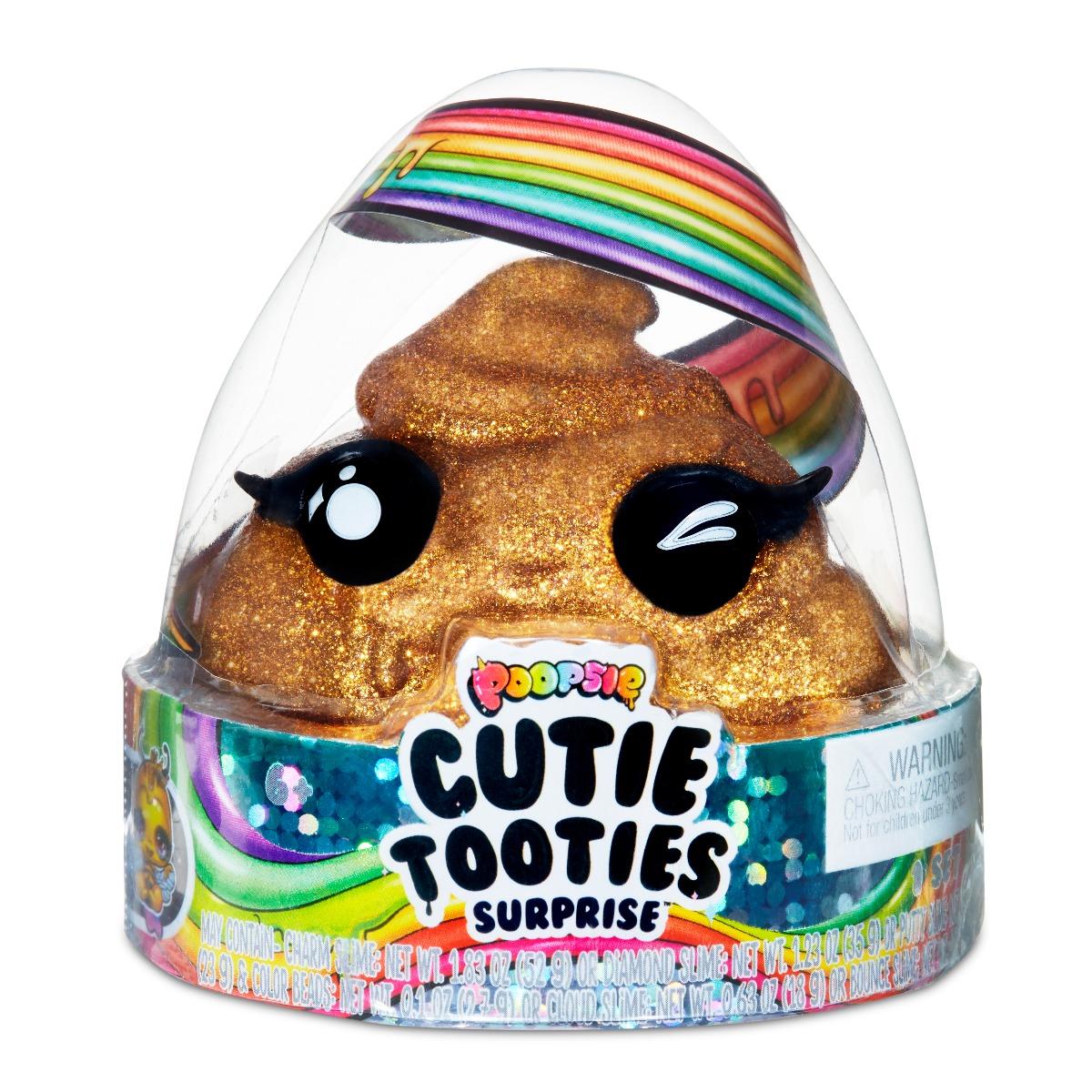 Set figurina surpriza si gelatina Poopsie Cutie Tooties Surprise, S2, Auriu