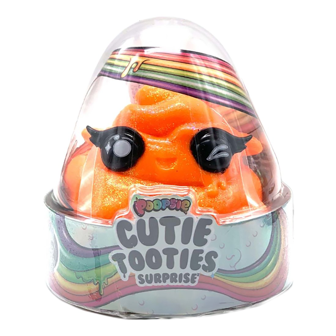 Set figurina surpriza si gelatina Poopsie Cutie Tooties Surprise, S2, Portocaliu
