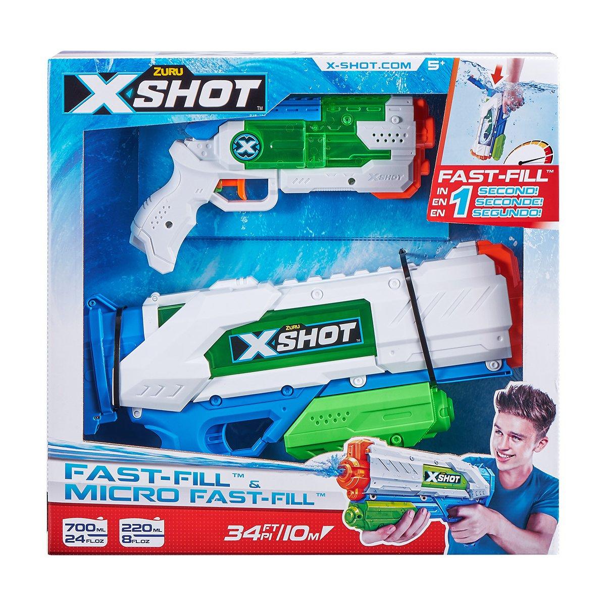 Set pistoale cu apa X-Shot Warfare Fast-Fill